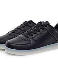 Unisex Sneakers Spring / Fall Comfort PU Casual Flat Heel  Black / White / Black and White Others