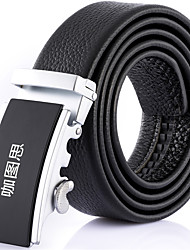 Katusi 7 New Mens Ratchet Belt Fashion Business Casual Style Genuine Leather 3.5cm Width kts7-2