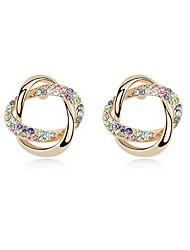 Forme de Cercle Bijoux Femme Mode Quotidien Alliage 1 paire Doré