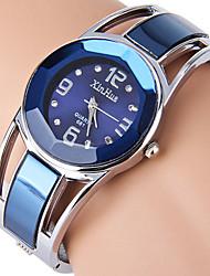 Mujer Reloj de Vestir Reloj de Moda Reloj Pulsera Simulado Diamante Reloj Cuarzo Brillante La imitación de diamante Acero Inoxidable Banda