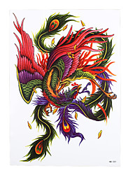 1pc Beauty Diy Decal Temporary Tattoo Phoenix Design Women Men Body Art Waterproof Tattoo Sticker HB-331