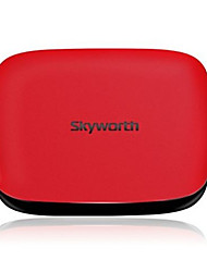 skyworth a11 android 4.4 caixa de smart tv hd 1g ram 8g quad core rom vermelho / preto
