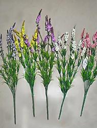 1 1 Ramo Poliéster Lavanda Flor de Mesa Flores artificiais 40cm