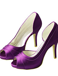 Women's Sandals Spring / Platform Stretch Satin Wedding /  Dress Stiletto Heel Others Green / Purple