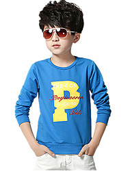 Boy's Wild Casual/Daily Print Long Sleeve Cotton Tee