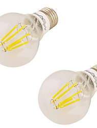 YouOKLight 2PCS E27 6W 6*LED 550LM 3000K Warm White Edison Bulbs LED Filament Light(85-265V)