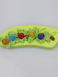 Customized flowers shape silicone cake decoration molds wholesale chocolate mold kitchen tools