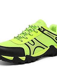 Желтый / Зеленый / Серый / Оранжевый-Мужской-Для занятий спортом-Тюль-На плоской подошве-На плокой подошве-Спортивная обувь