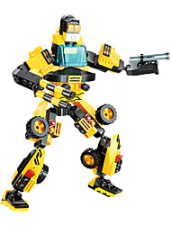 Building Blocks For Gift  Building Blocks Model & Building Toy Car Robot Plastic Black Yellow Toys