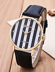 Women's Strap Watch Lichee Pattern Rhinestone Inlaid Colorful Stripe Dial Ladies Wrist Watch Quartz Geneva Watch Chain Wristwatch