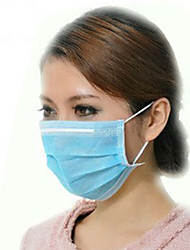 Disposable BLUE Earloop Face Mask Filters Bacteria 3 PLY 50/bx