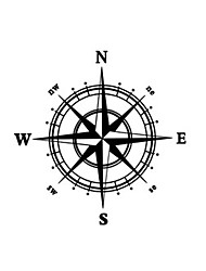 Compass Wall Decal Compass Wall Sticker Home Decor