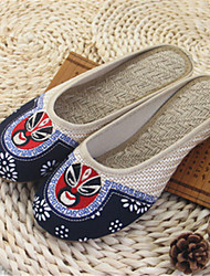 Women's Slippers & Flip-Flops Spring Summer Fall Linen Casual Flat Heel Others Gray Beige Other