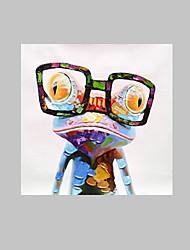 Отпечатки на холсте Животное Поп Классика,1 панель Квадратная Печать Искусство Декор стены For Украшение дома