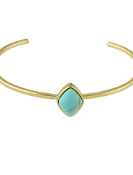 Imitation Turquoise Thin Cuff Bangles Christmas Gifts
