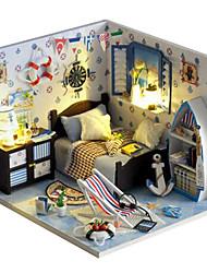 pequena casa diy verão cottage mar criativo dom casa modelo montagem manual para enviar as meninas