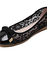 Women's Flats Spring / Summer Flats PU Casual Flat Heel Bowknot Black / Almond Others