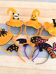 1pcs tête de citrouille cerceau de halloween tête de citrouille boucle Halloween accessoires articles de fête