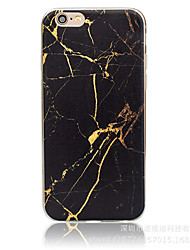 Gold Marble Pattern Material TPU Phone Case for iPhone 7 7 Plus 6s 6 Plus SE 5s 5