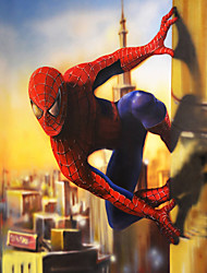JAMMORY 3D Wallpaper Contemporary Wall Covering , Canvas Material Adhesive required Mural , Justice Spider-Man