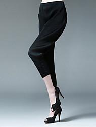 Pantaloni Da donna Larghi Semplice Poliestere Anelastico