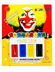 Artigos de Halloween Fantasias Festival/Celebração Trajes da Noite das Bruxas Vermelho / Preto / Amarelo / Azul Estampado Mais Acessórios