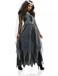 Fantasias Vampiros Dia Das Bruxas Preto Patchwork Terylene Vestido / Mais Acessórios