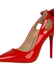Damen-High Heels-Kleid-Kunstleder-Stöckelabsatz-Komfort-Schwarz / Rosa / Rot / Weiß / Grau / Aktmalerei
