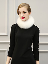 Women Faux Fur Solid Infinity Scarf Party / Work / Casual