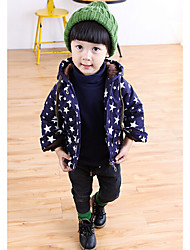 Boy's Casual/Daily Print Down & Cotton PaddedCotton Winter Blue