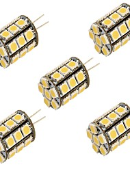 6 G4 Luces LED de Doble Pin T 27 SMD 5050 250 lm Blanco Cálido / Blanco Fresco Decorativa DC 12 V 5 piezas