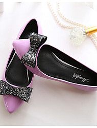 Women's Flats Spring / Summer / Fall / Winter Flats PU / Leatherette Casual Flat Heel Bowknot Almond Others