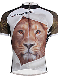 ILPALADINO Cycling Jersey Men's Short Sleeve Bike Jersey TopsQuick Dry Ultraviolet Resistant Breathable Soft Reduces Chafing