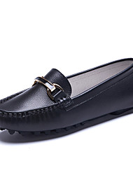 Women's Loafers & Slip-Ons Spring / Fall Comfort / Round Toe Cowhide Outdoor / Career / Casual Flat Heel shoe