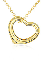 Xu Women's Hollow Out A Heart-shaped Necklace