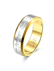 Ring Non Stone Wedding Party Daily Casual Jewelry Brass Couples Ring 1pc