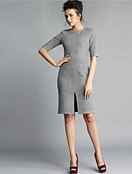 Baoyan® Femme Col Arrondi Manches 1/2 Genou Robes-14608