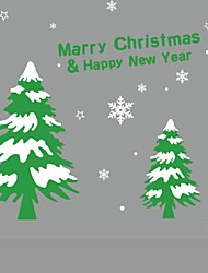 Christmas Tree Wall Sticker Vinyl Removable Wall Stickers Home Wall Decor Poster Paredes 3D Wall Stickers