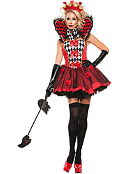 Costumes More Costumes Halloween Red Patchwork Terylene Dress / More Accessories