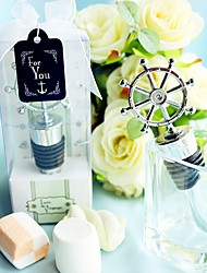 Chrome Bottle Favor Bottle Stopper Classic Theme Non-personalised Silver