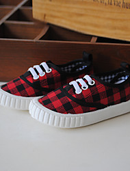 Boy's Sneakers Spring / Summer / Fall Closed Toe Canvas Outdoor Flat Heel Lace-up Blue / Pink / Red / Navy Others