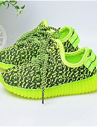 LED Light Up Shoes,Unisex Sneakers Fall Comfort Fabric Casual Flat Heel Green Gray Fuchsia Walking