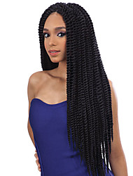 Kanekalon Braiding Hair Senegalese Twist Hair 14synthetic Braiding Hair Extensions Crochet Braid Hair