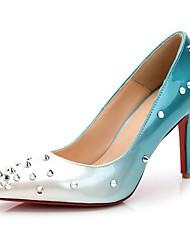 red bottom high heels Women's Shoes leather Pointed Toe Heels Wedding Party  Evening Dress  rivets Heel  women pump