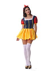 Costumes de Cosplay / Costume de Soirée Princesse / Conte de Fée Fête / Célébration Déguisement Halloween Jaune MosaïqueRobe / Plus