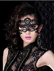 sexy prom schwarzes Abendkleid Spitze venezianischen Maske Maskenball Halloween-Kostüm