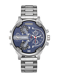 CAGARNY Men Watch/Fashion Watch / Large Dial Watch / Dual Time Zone Watch / Casual / Japan Quartz Calendar