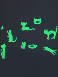 Animaux / Noël / Mode Stickers muraux Stickers avion / Stickers muraux lumineux Stickers muraux décoratifs,PVC MatérielLavable / Amovible