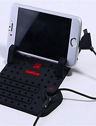 automobile tapis antidérapant instrument bureau téléphone mobile pad anti-glissement de la courroie rechargeable magnétique