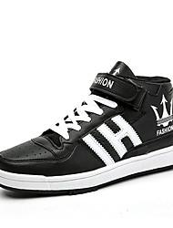Men's Trainers Fashion Microfiber Medium cut Flats Board Shoes Youth Sneakers EU37-44
